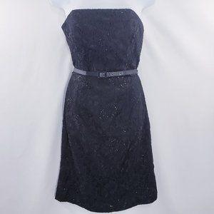 White House Black Market WHBM Womens Black Lace Sh